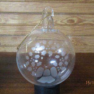 Princess  House Handblown Crystal  Ornament Holly